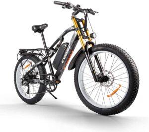 Fat bike electrique Cysum M900 noir et jaune