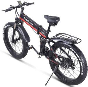 confort et sécurité du gunai fatbike électrique