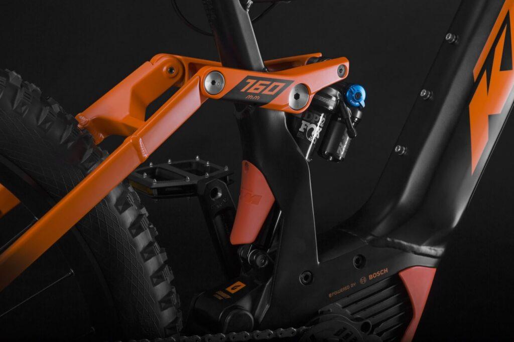 VTT électrique KTM Suspension